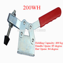 2PCS 400KG 882LBS Hand Tool Metal Horizontal Type Toggle Clamp 200WH