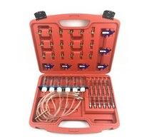 Inyector Diesel medidor de flujo Kit de prueba de carril común adaptador de combustible de conjunto de herramientas para la automoción probador de boquilla de retorno de combustible medición de flujo