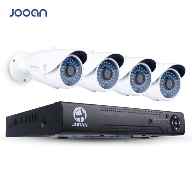 JOOAN 4ch 1080P POE CCTV System Outdoor POE IP Camera HD Recorder 4CH HDMI P2P POE CCTV NVR Security Home Video Surveillance