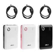 Портативный Регулируемый 5V 9V 12V 18650 батарея зарядное устройство чехол двойной USB порты и разъёмы мобильный запасные аккумуляторы для телефонов