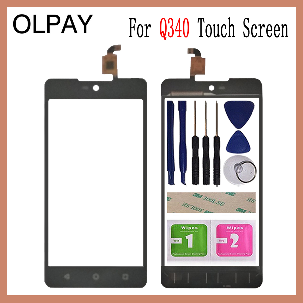 OLPAY 5.0'' Touch Screen For Micromax Canvas Selfie 2 Q340 Touch Panel Lens Glass Black Color Free Adhesive+Wipes