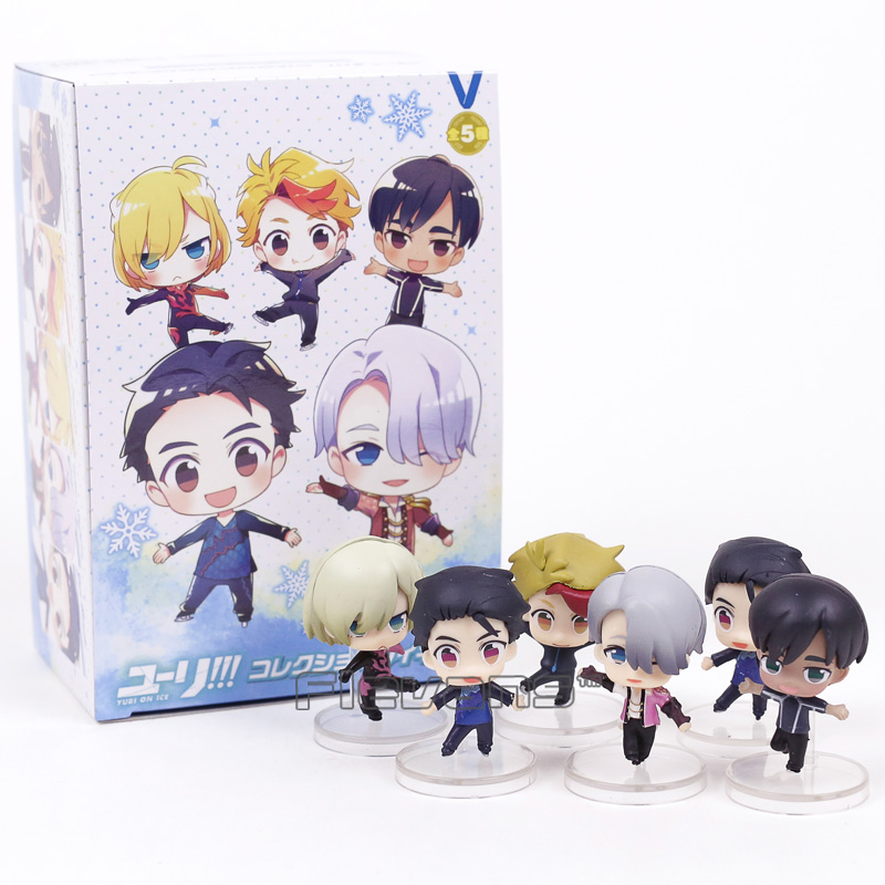Anime Yuri on Ice Yuri Victor Phichit Kenjiro Mini PVC Figures Toys 6pcs/set 5cm evans v fairyland 1 teachers resource pack beginner комплект для учителей