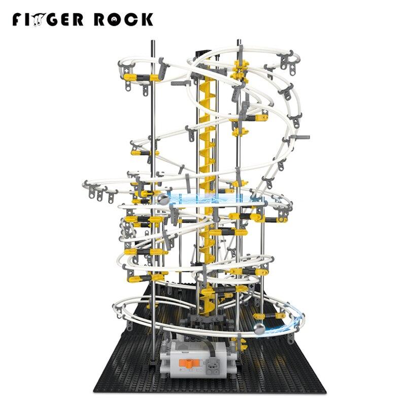 우주 레일 3d diy 롤러 코스터 모델 빌딩 키트 전자 spacerail 완구 아이 조립 레벨 4 롤러 코스터 대리석 실행 장난감-에서모델 빌딩 키트부터 완구 & 취미 의  그룹 2