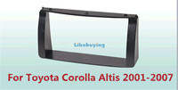1 Din Car Frame Dash Kit / Car Fascias / Mount Bracket Kit For Toyota Corolla Altis 2001 2002 2003 2004 2005 2005 2006 2007
