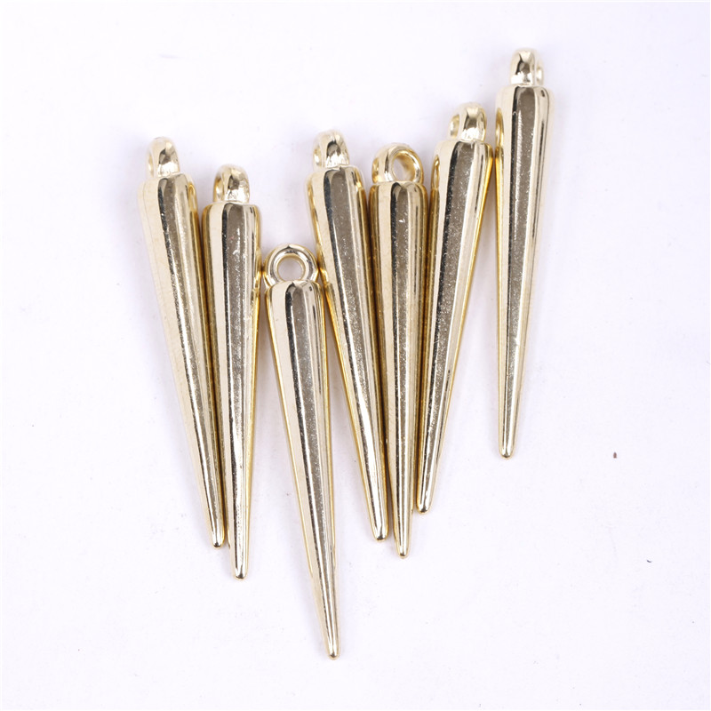 Silver Plated Acrylic Spike Pendant Drop Basketball Wives Hoop Spike Earrings Jewelry Findings