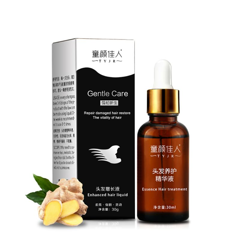 Spot Hair Growth Fast Essential Oil Dense Hair Regrowth Essence Products Anti Hair Loss Ginger Extract Serum Care 30ml Men Women