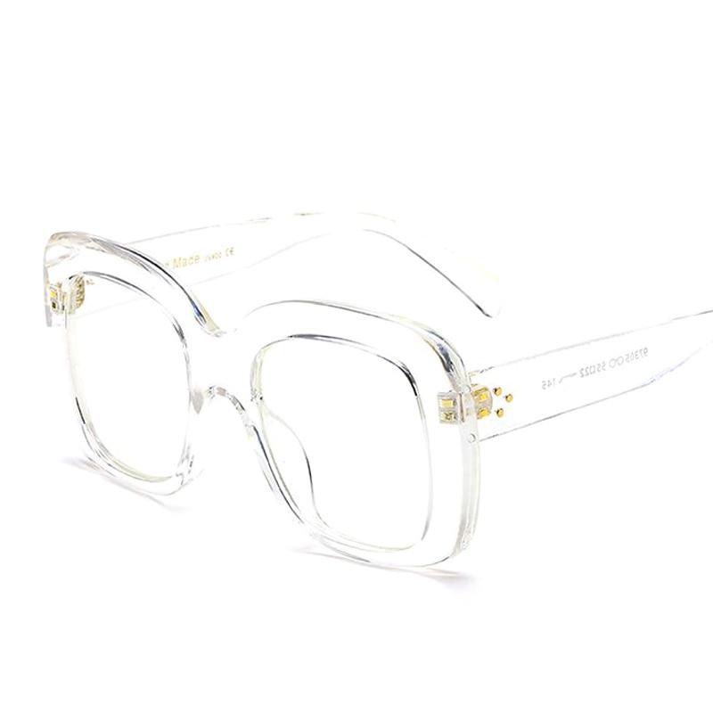 Pop Alter Luxus Marke Designer Übergroßen Quadratischen Glasrahmen ...