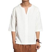New T Shirt Men Summer Fashion T-Shirts Casual V Neck Mens Clothing Tshirt Cotton Slim Fit harajuku Tops Tees Shirts 5XL