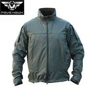 Senior Officer Outdoor Soft Shell Jacket Male Waterproof Windproof Tactical Locomotive Jacket Women Monolayer Windbreaker Coat