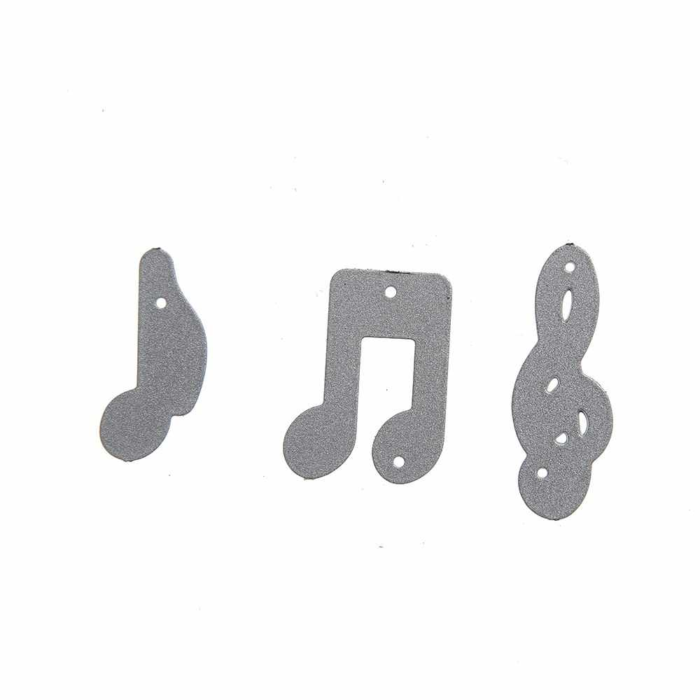 Gowing Music Note Stitched Metal Cutting Dies Stencils Background Craft Scrapbooking Album DIY Paper Card Craft Die Cut