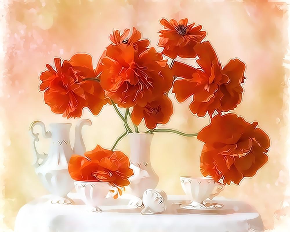 Crown Daisy květiny plátno ručně bez rámečku domácí dekorace - Dekorace interiéru