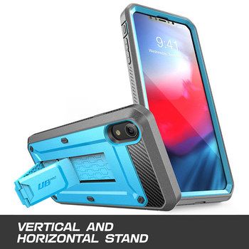 SUPCASE For iPhone XR Case 6.1 inch UB Pro Full-Body Rugged Holster Phone Case Cover with Built-in Screen Protector & Kickstand 3