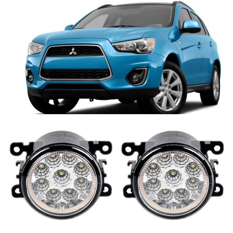 Car-Styling For Mitsubishi ASX 2013 2014 9-Pieces Led Fog Lights H11 H8 12V 55W Fog Head Lamp решетка радиатора mitsubishi asx 2 шт 2010 2013
