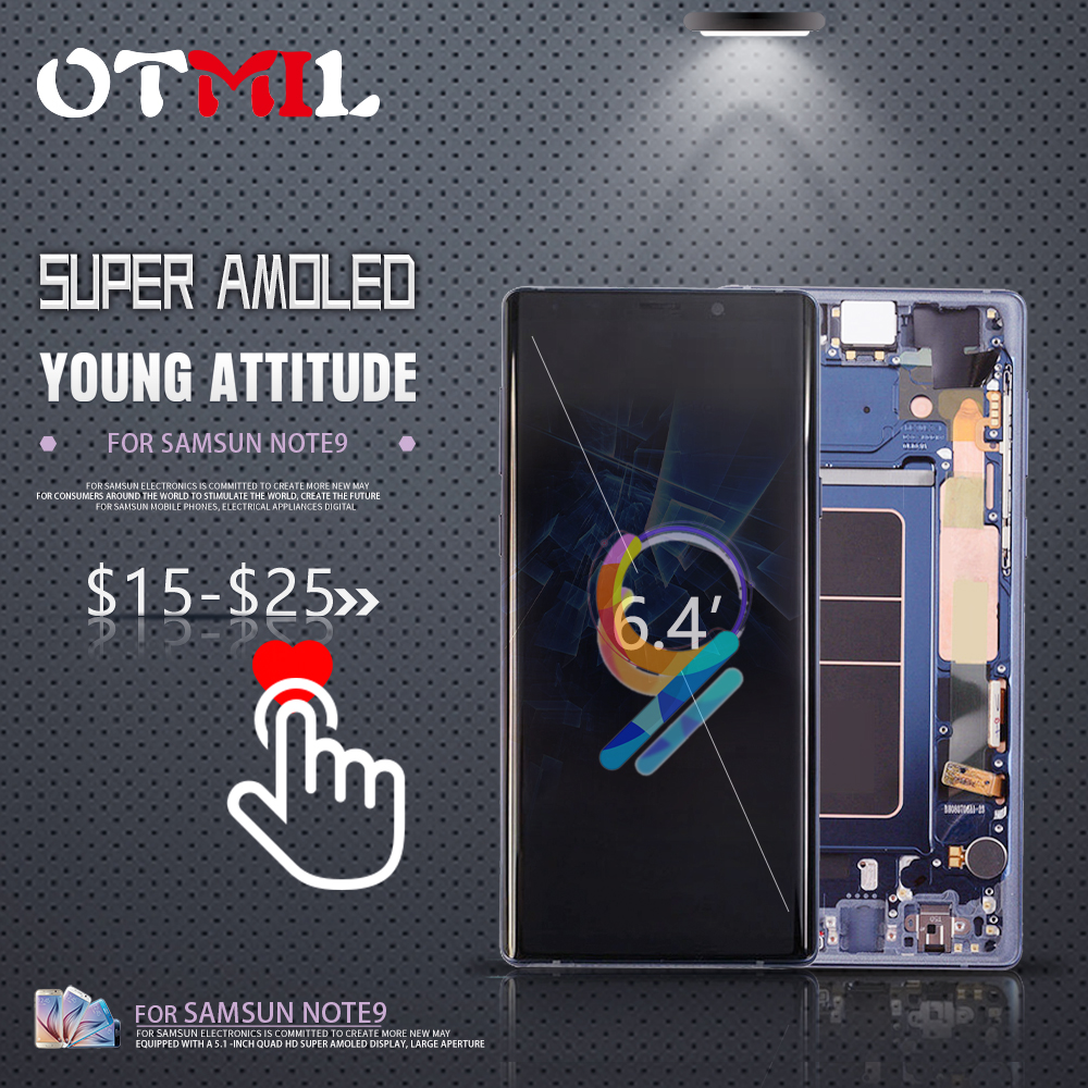 OTMIL 6.4 AMOLED pour SAMSUNG Galaxy Note 9 écran tactile LCD avec cadre N960 pour SAMSUNG Note 9 affichage N960D N950F Note9 LCD #1