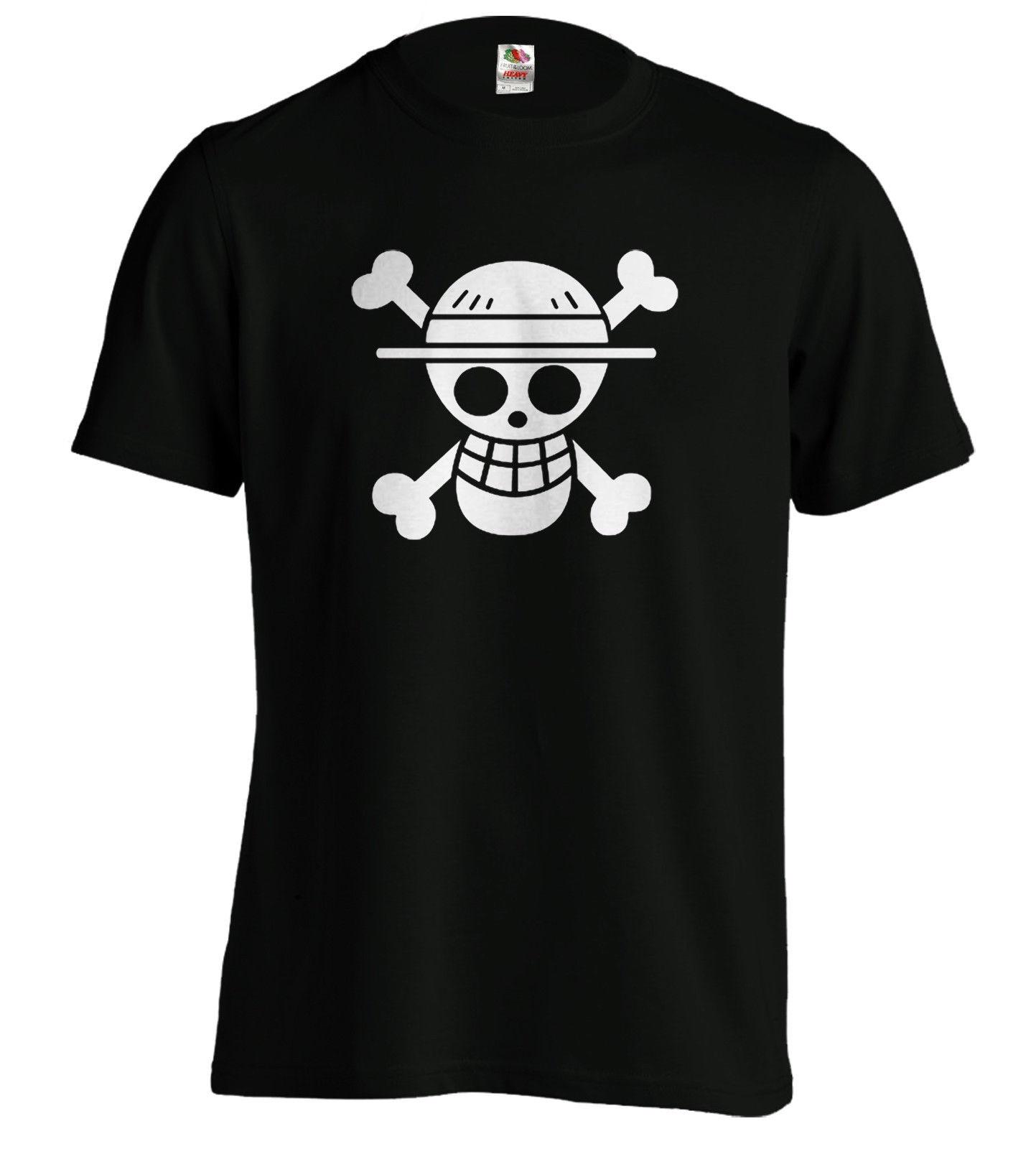 Onepiece TShirt Straw Hat Crew Flag Luffy Pirates anime