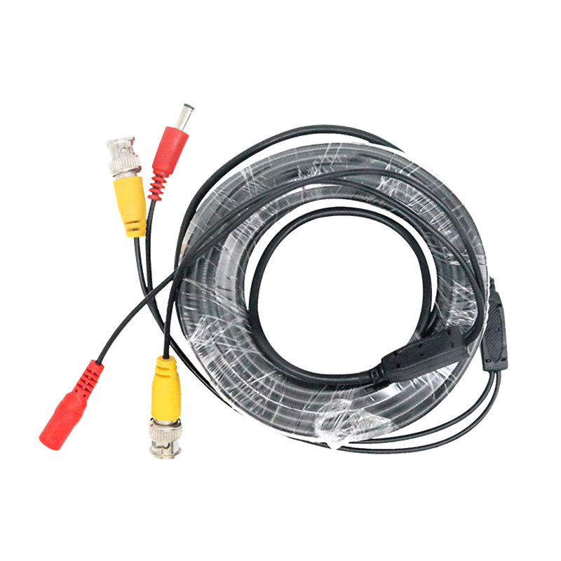 BNC DC Plug Cable 5M/10M/15M/20M/30M/40M/50M CCTV Video Output Cable For AHD TVI CVI Analog System DVR Kit Accessories