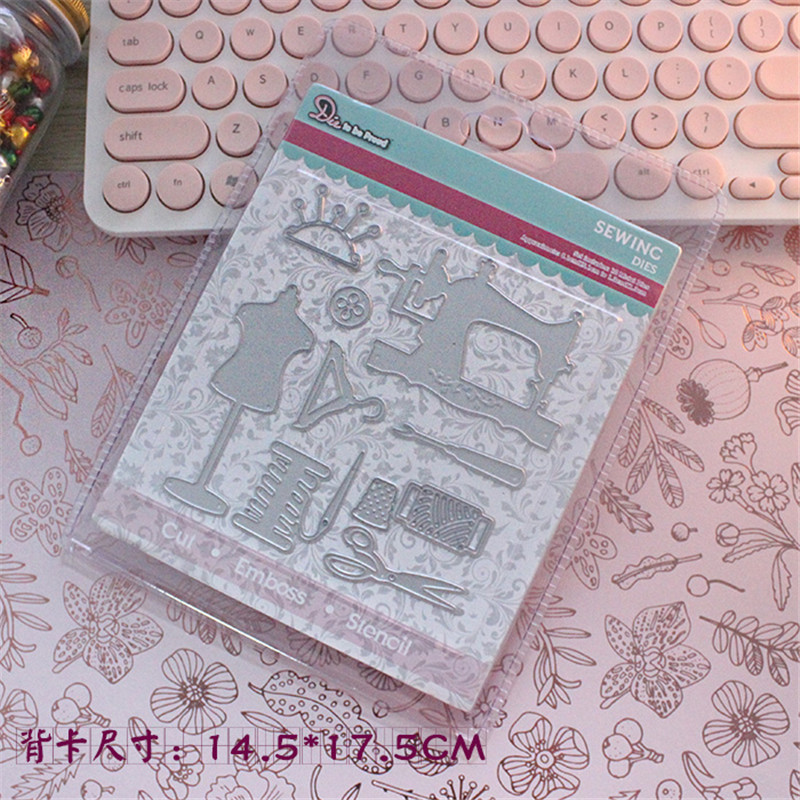 Sewing machine Metal Die Cutting Scrapbooking Embossing Dies Cut Stencils Decorative Cards DIY album Card Paper Card Maker m word hollow box metal die cutting scrapbooking embossing dies cut stencils decorative cards diy album card paper card maker