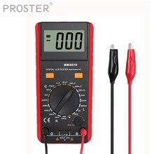 Proster digital profissional indutância capacitância medidores lcr medidor 1999 contagens indicação de baixa potência testador portátil elétrico