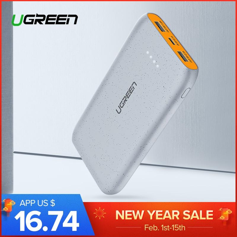 Ugreen Banco de la energía 20000 mAh Delgado Powerbank para Xiaomi mi 8 portátil cargador de batería externo para iPhone 7 8 X dual USB Pover banco