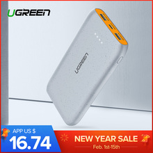 Ugreen Power Bank 20000mAh Slim Powerbank For Xiaomi Mi 8 Portable External Battery Charger For iPhone