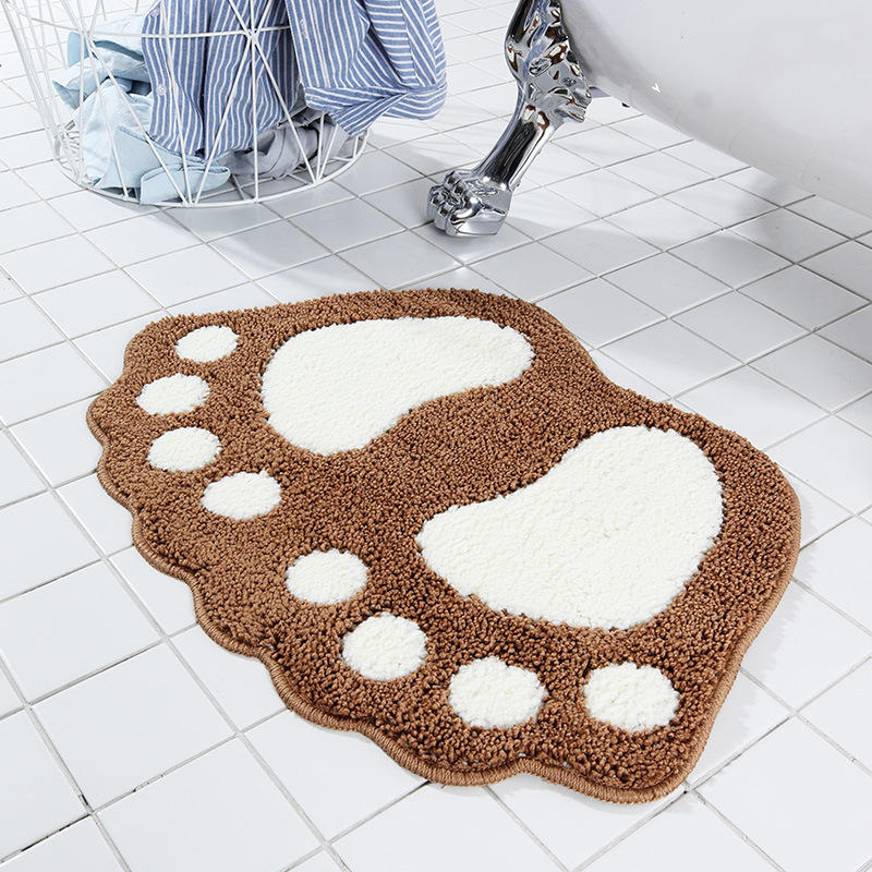 Non-slip Bathroom Carpet,Mat Toilet Tapete Para Banheiro Bathroom Rug Bath Pad Carpets Microfiber Mini Mats Foot Print Bath Mats