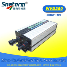 WVD-260W On grid Micro Inverter Input DC22V-50V and Output AC220V,50HZ Waterproof IP65 Micro solar PV pure sine wave inverter