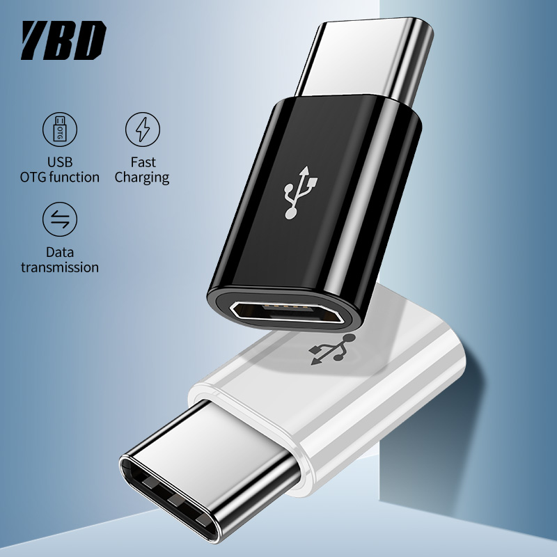 YBD OTG Type-C Adapter USB C To Micro USB OTG Cable Thunderbolt 3 USB Type C Adapter For Macbook Pro Samsung S9 One Plus USBC