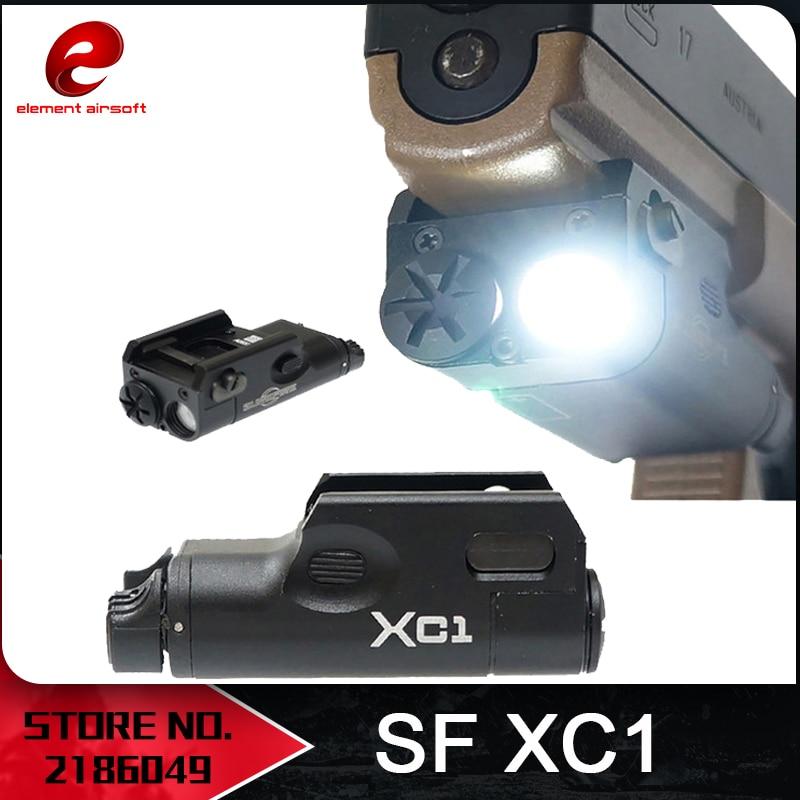"""Elementas """"Airsoft Surefir Tactical XC1"""" pistoleto žibintuvėlis Ginklo lemputė Žibintuvėlis """"Glock SF XC1"""" - ypač kompaktiškas rankinis ginklas """"EX414"""""""