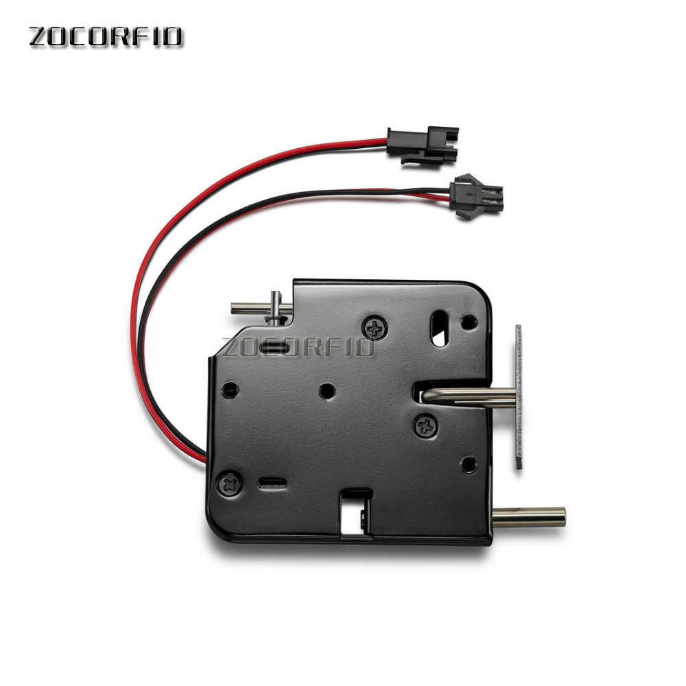 DC-12V Electrical Lock Picks Latch Electromagnetic Lock For Electronic Locker Smart Cabinet Lock With  Spring Rod