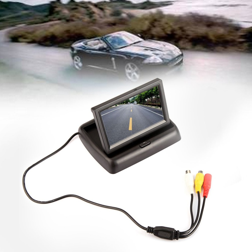 Car Display Folding Practical Car-4.3inch Image-System And Hd Visual-Reversing Av-Input title=