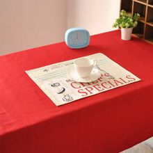 Red Tablecloths Cotton & Linen Dustproof Rectangular Table Cloth Party Wedding Cover Home Textile High Quality