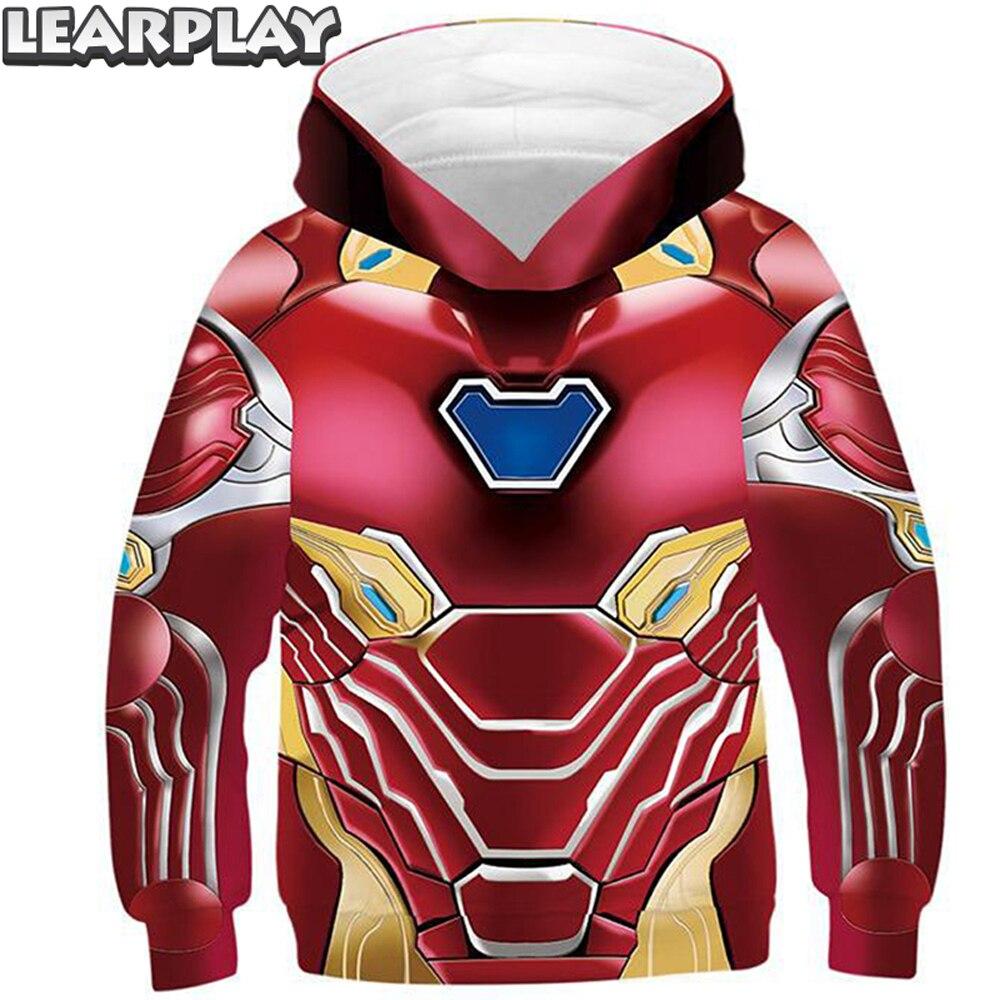 Endgame fer homme Hoodies pour enfants enfants impression 3D Super héros Cosplay unisexe sweat-shirt à capuche décontracté à manches longues manteau pull