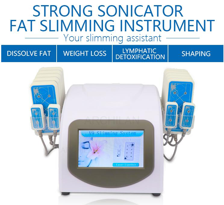 New Design High Quality Fat LossLipo Laser 14 Pads Fat Burning & Cellulite Removal Beauty Body Shaping Slimming Machine