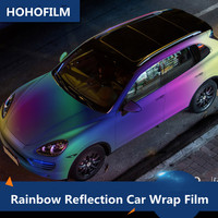New Colorful Car Color Changing Film 130x30cm 1PC Car Styling Chameleon Reflective Vinyl Tint Sticker Rainbow Film Wrap