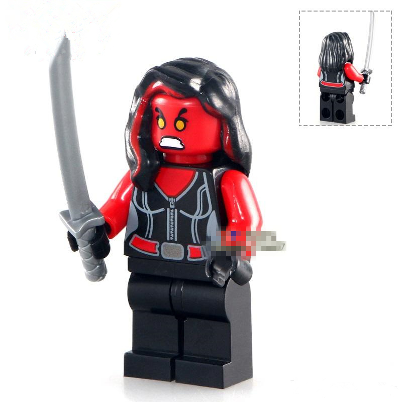 Single Sale Red She Hulk Girl Avengers Movie Justice League Dc Super Heroes Assemble -3356