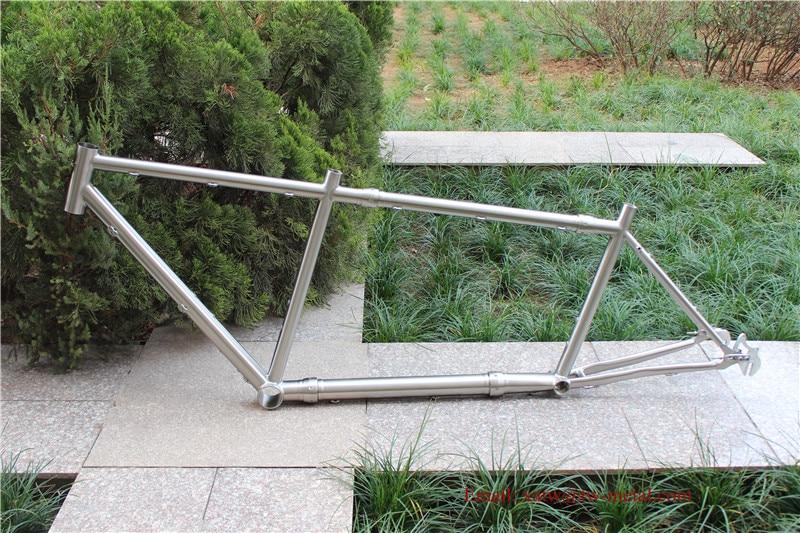 Bike-Frame Tandem Titanium with S--S Couplers Sliding-Dropout