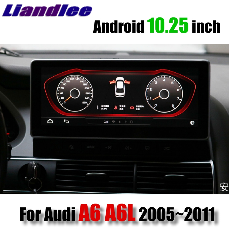 цена Liandlee Car Multimedia Player NAVI For Audi A6 A6L 2005~2011 Original Car System 10.25' Radio Stereo GPS 4G Screen Navigation