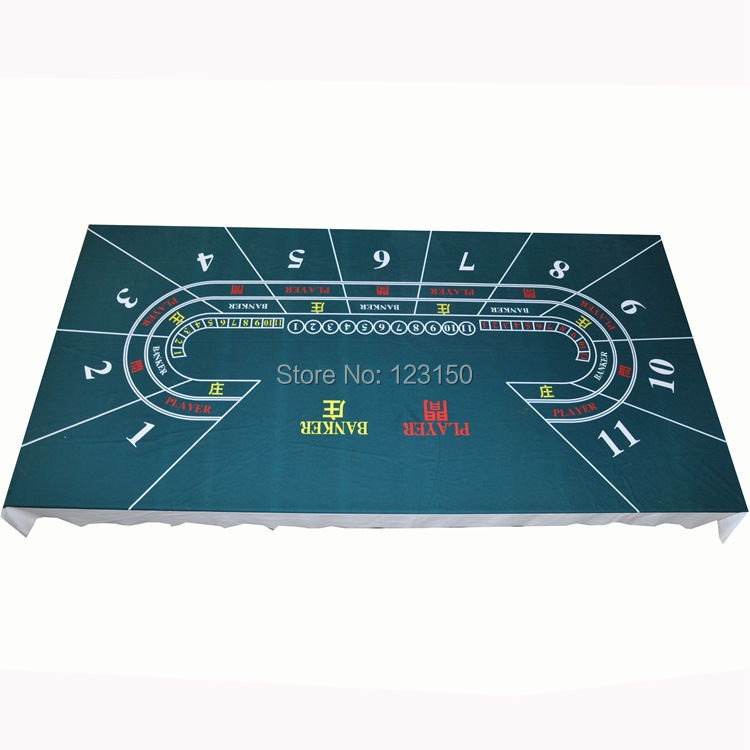 WP-054 Professional Water Resistant Poker Table Cloth, Baccarat for 11 persons, 1PC, Free shipping