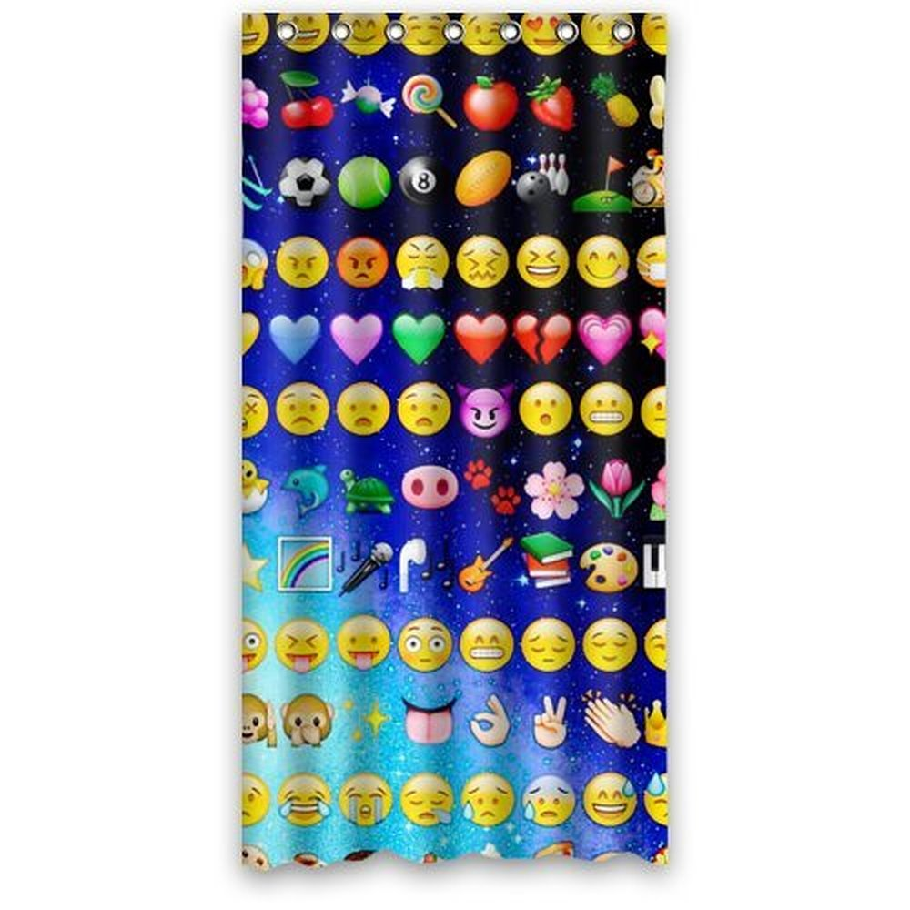 36wX72h Inch Famous Home Fashions Polyester Emojis Shower Curtain