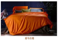 Orange Bedding Set King Queen Size Duvet Cover Egyptian Cotton Sheets Bed In A Bag Sheet