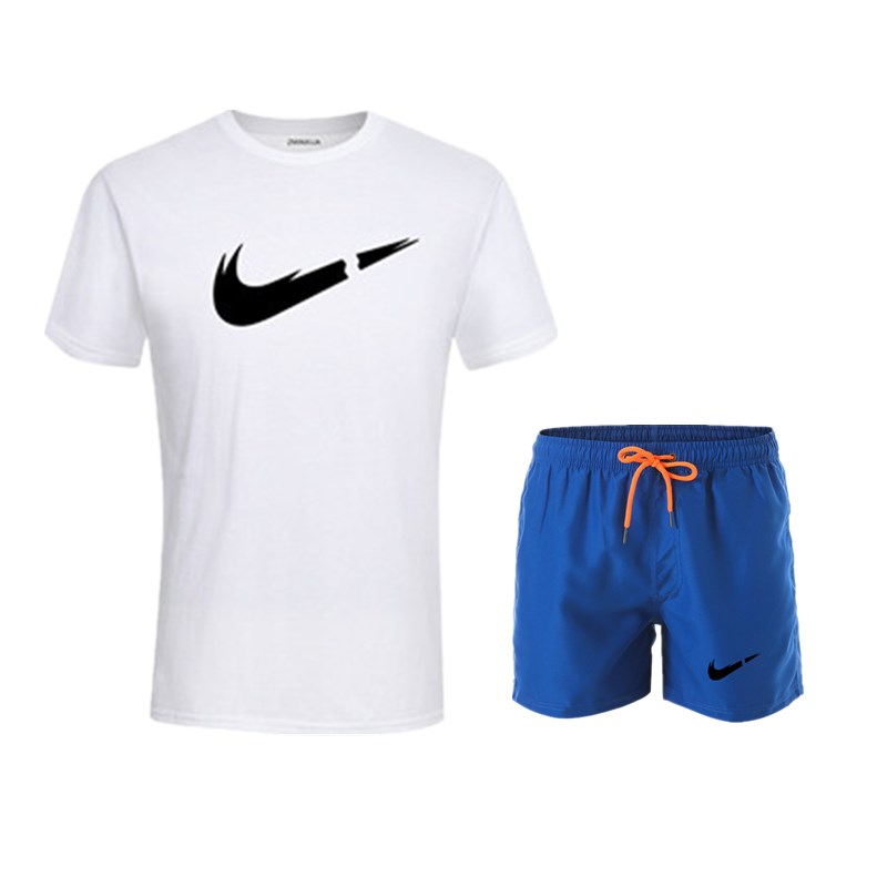 HTB1PkNqUbvpK1RjSZFqq6AXUVXaC 2019 New Men Fashion Two Pieces Sets T Shirts+Shorts Suit Men Summer Tops Tees Fashion Tshirt High Quality men clothing