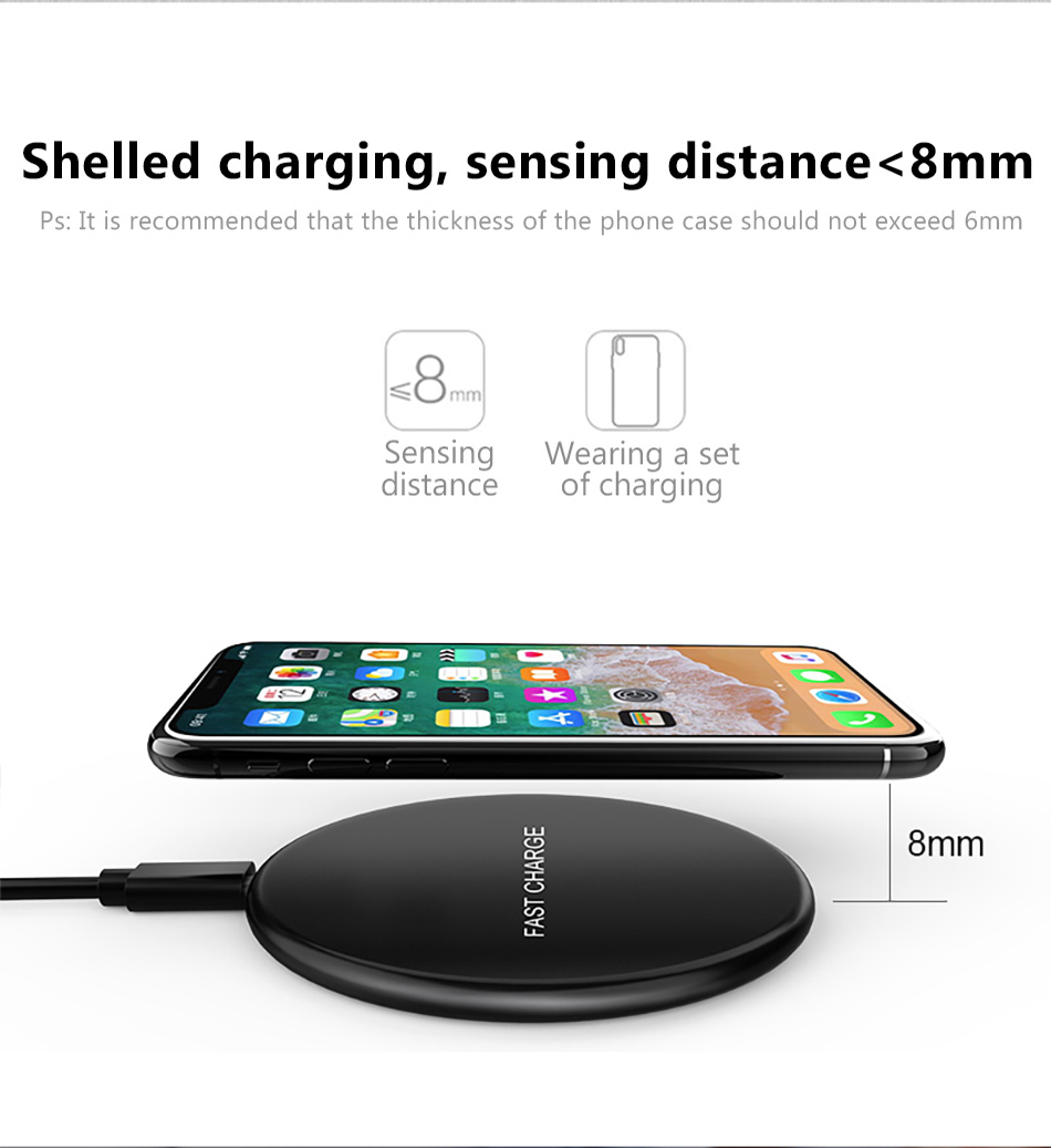 !ACCEZZ Qi Wireless Charging 7.5W 10W For Samsung Galaxy S8 S9 Plus Note 8 Universal Fast Charge For iPhone 8 Plus XS XR Charger (6)