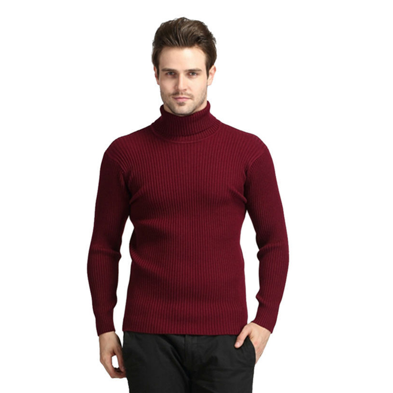 2016 New Fashion Winter Brand Turtleneck Sweater Men Casual Wool ...