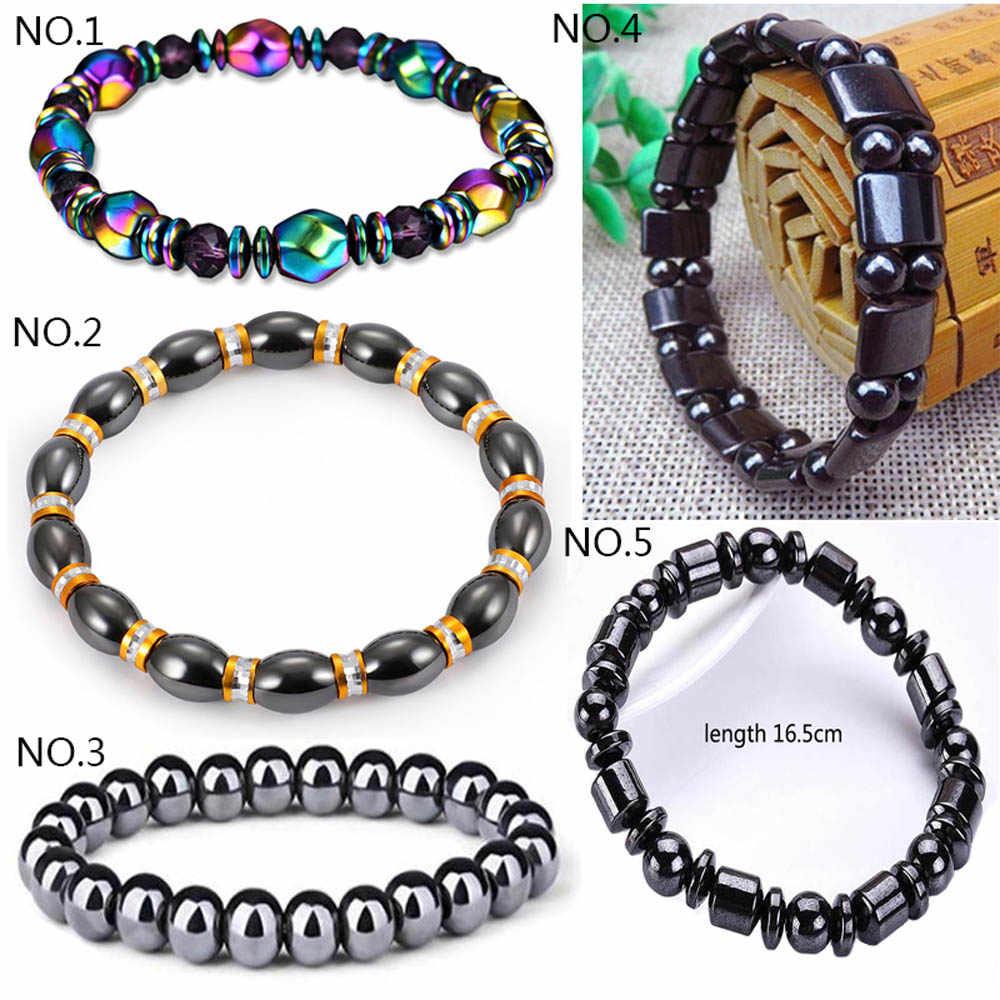 Black Bracelet Magnetic Clasp Bangle Cuff Black wrap bracelet Magic stone bracelet
