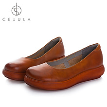 Cetula 2018 Handcrafted Top Supple Calfskin Easy-wearing Comfot Emphasized Mum Flat Shoes Ft Pigskin Lining&Durable Outsole