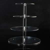 Assemble And Disassemble Round Acrylic 3 4 Tier Cupcake Cake Stand For Birthday Wedding Party Cake