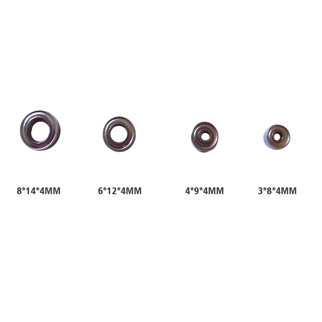 8 PCS Dental Metal Bearing for Models 204 and 90 grinding handle pen-Two of each