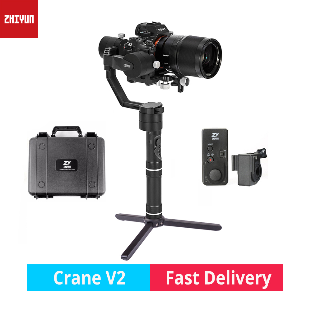 zhi yun Zhiyun Crane V2 3-Axis Brushless Handheld Gimbal Stabilizer camera gimbal for Canon Nikon Sony DSLR mirrorless cameras zhiyun crane 3 axis handheld stabilizer gimbal for dslr canon cameras support 1 2kg pk beholder ds1 ms1 dhl ems free