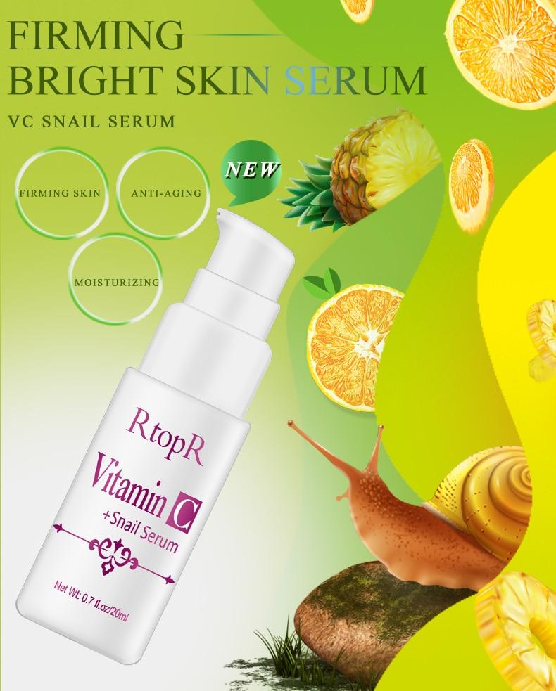 Hyaluronic Acid Serum + VC Snail Serum Collagen Serum Anti-Aging For men and women Moisturizing Skin Care Whitening Brighten 2