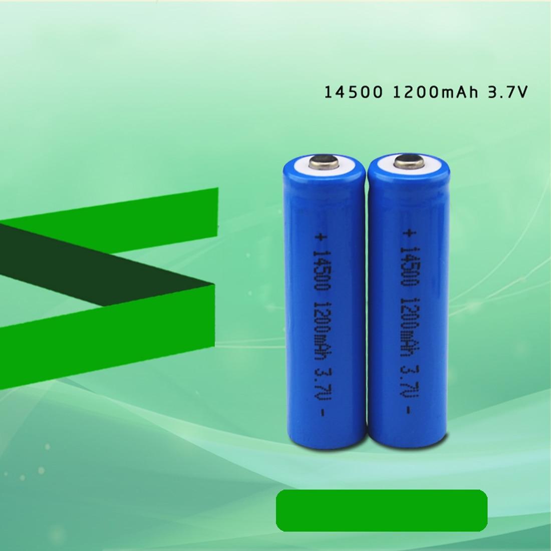 centechia 4 pcs Capacitance 14500 Battery 3.7V 1300mAh Rechargeable Battery for Led Flashlight Batery Battery Newest